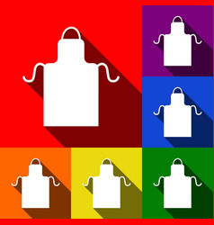 apron simple sign set of icons with flat vector image
