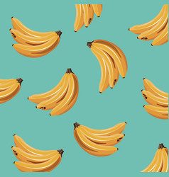 banana fruit fresh seamless pattern design vector image