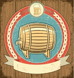 Beer barrel label vector