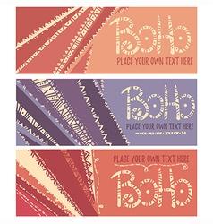 boho banners vector image