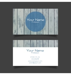Business card modern template vector image