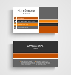 Business card with colored design stripes template vector