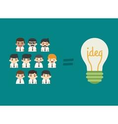 Businessman teamwork get idea eps10 forma vector image vector image