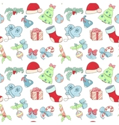 Christmas holliday pattern vector image