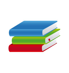 colorful set stack school books vector image