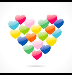 colorful valentine day greeting design vector image