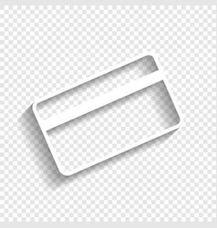 Credit card symbol for download white vector