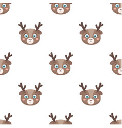 deer muzzle icon in cartoon style isolated on vector image vector image