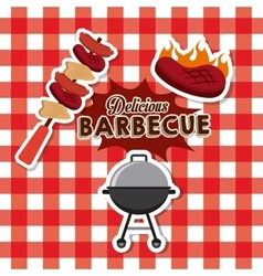 Delicious barbacue design vector