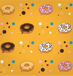 donutpattern vector image
