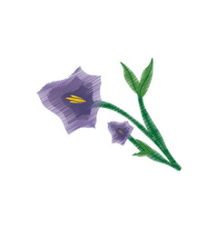 Drawing pansy flower ornament image vector