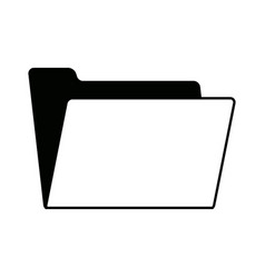 empty folder archive office supply icon vector image vector image