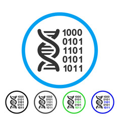 genetical code rounded icon vector image vector image