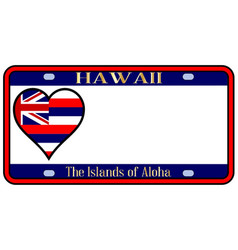 Hawaii state license plate vector