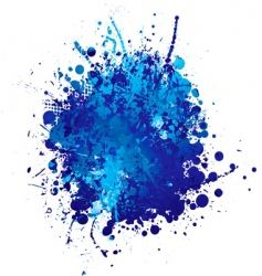 ink splat vector image