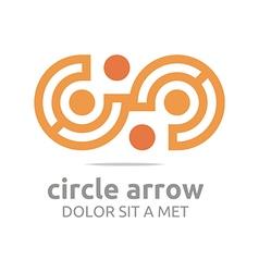 Letter c arrow icon symbol logo vector