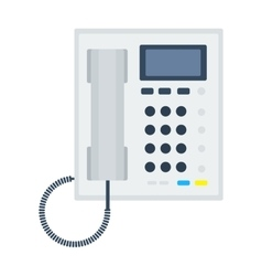 Office phone office vector