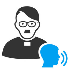 Priest confession flat icon vector