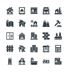 Real Estate Cool Icons 1 vector image