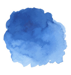 Round watercolor stains on white background vector