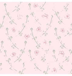 Seamless pattern of grunge flowers vector image vector image