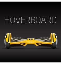 segway dual wheel selfbalance electric hover board vector image