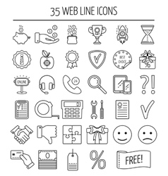 Set of linear web icons line icons for business vector