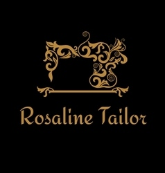 Sewing boutique logo vector