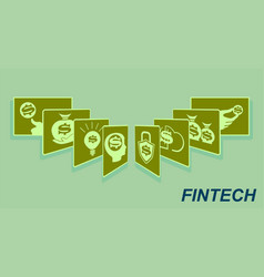 sign the card fan financial technology vector image vector image