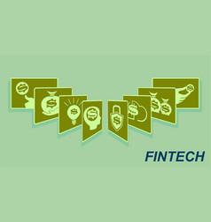Sign the card fan financial technology vector