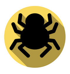 Spider sign flat black icon vector
