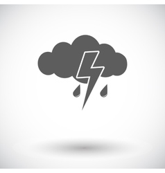 Storm flat icon vector image vector image