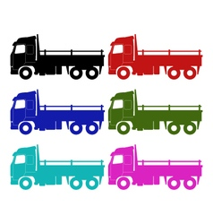 Truck on white background vector