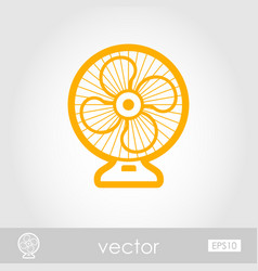 Ventilator outline icon summer vacation vector