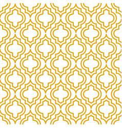 Yellow line qatrefoil seamless pattern vector