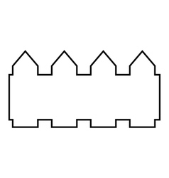 Castle icon outline style vector