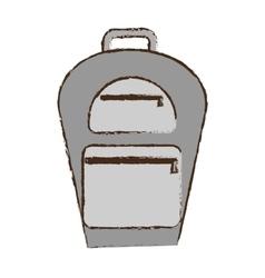 backpack traveler vacation color sketch vector image