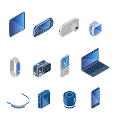 Digital technology gadgets set vector