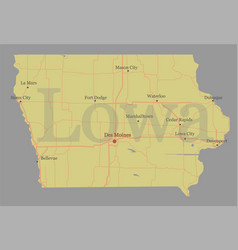 Lowa accurate exact detailed state map vector