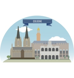 Cologne vector image