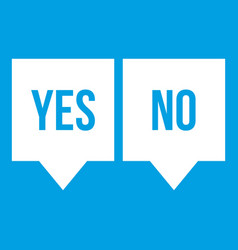 Signs of yes and no icon white vector