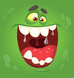 Cartoon halloween monster face vector