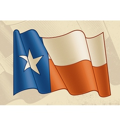 Vintage texas flag vector