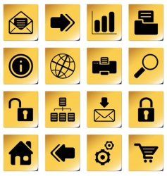 web and internet icons vector image