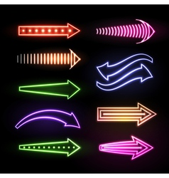 Neon arrows vector
