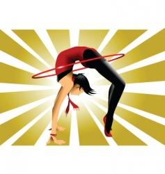 gymnastic bridge vector image