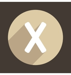 Letter X Logo Flat Icon Style vector image