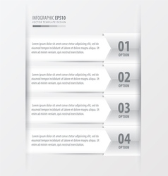 Modern infographics banner white color style vector