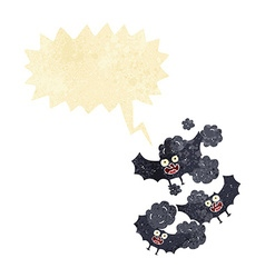 Cartoon bats with speech bubble vector