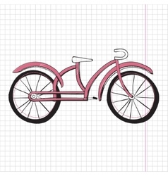 Doodle bicycle excellent eps vector